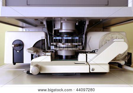 Microfiche Reader In Closeup
