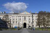 image of trinity  - Trinity College University Entrance in Dublin Ireland - JPG