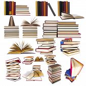 image of short-story  - collection and a set of books isolated on white background - JPG