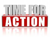 foto of productivity  - time for action text  - JPG