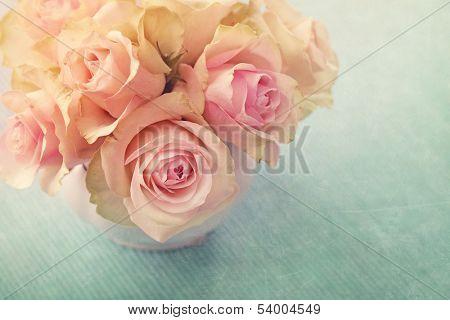 White roses  in a vase