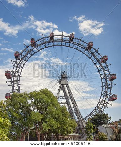 The Wiener Riesenrad or Viennese giant wheel