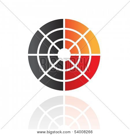 Colorful Abstract Radar Icon