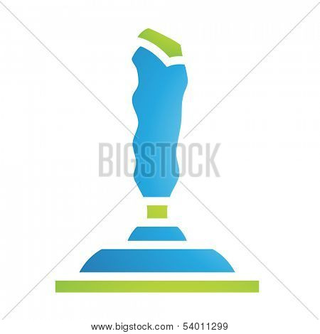 Illustration of PC Accessories Joystick Icon isolated on a white background