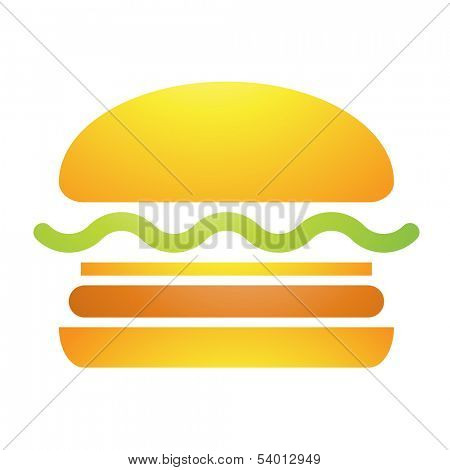 Illustration of Fast Food Burger Icon isolated on a white background