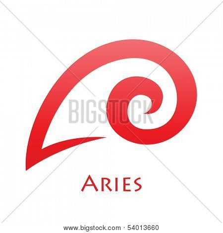 Illustration of Simplistic Lines Aries Zodiac Star Sign isolated on a white background