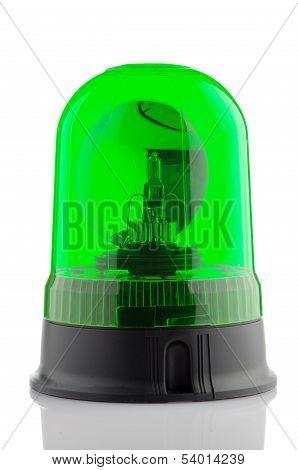 Green Rotating Beacon