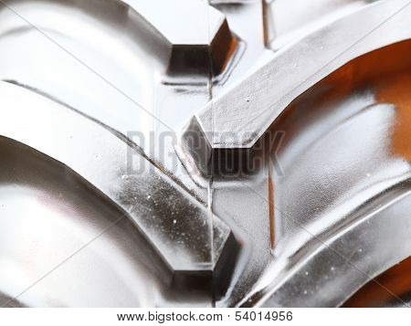 Detailed View Of Heavy Vehicle New Tire Texture