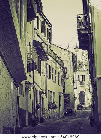 Vintage Sepia Rivoli Old Town, Italy