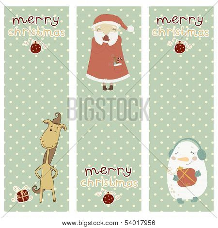 A set of Christmas and New Year banners.