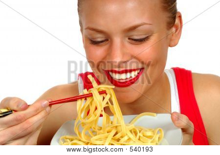 Woman With Pasta 3