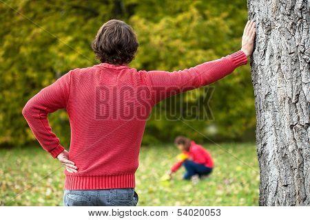 Man Looking Down At His Beloved