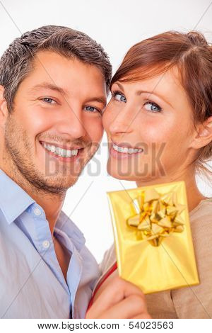 happy smiling younger couple portrait
