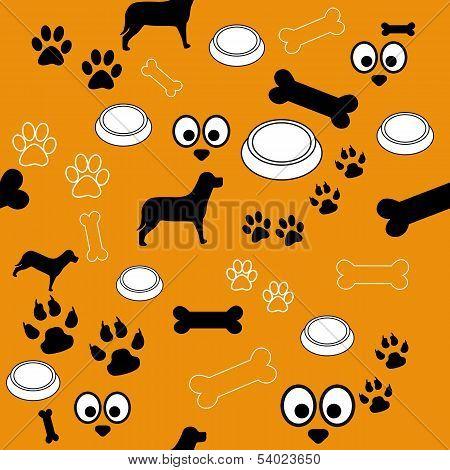 Dog Pattern Brown Black White