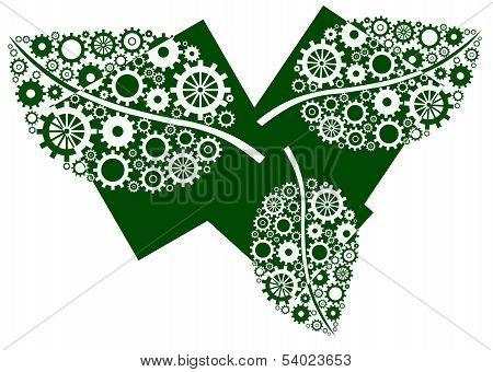 Green Leaves Three Blocks