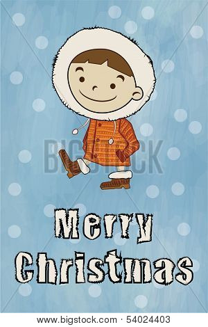 Winter Boy Merry Christmas