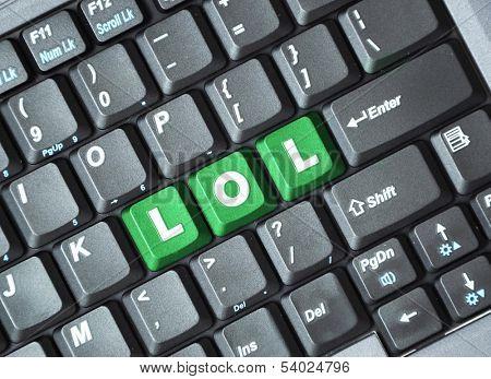 Green lol key on keyboard