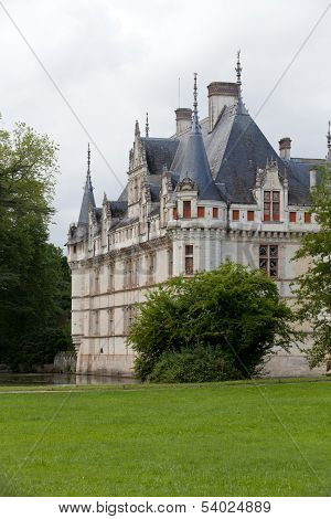 Azay-le-Rideau castle in the Loire Valley France