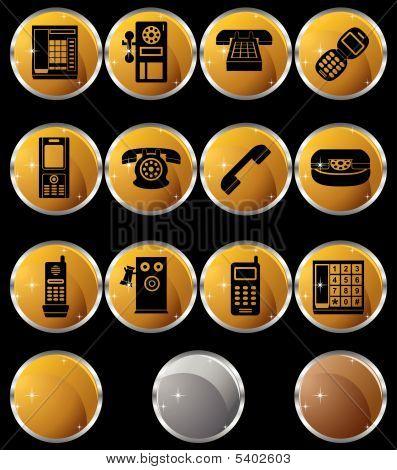 Phone Icons Round