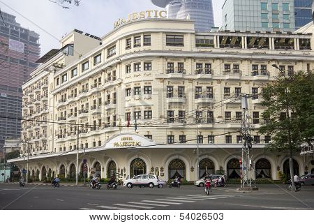 Ho Chi Minh City, Vietnam-nov 3Rd: The Hotel Majestic On November 3Rd 2013. The Majestic Was Built I