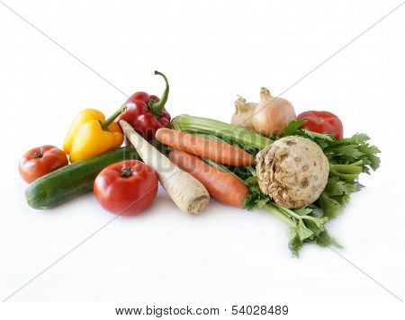 various multicolor vegetable