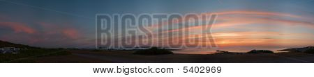 Coastline Sunset Panorama