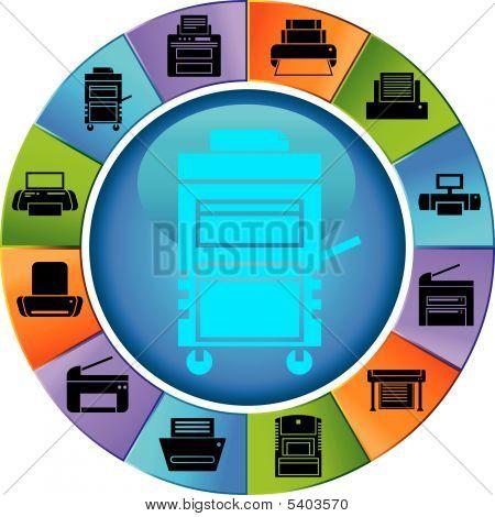 Printer Wheel Color