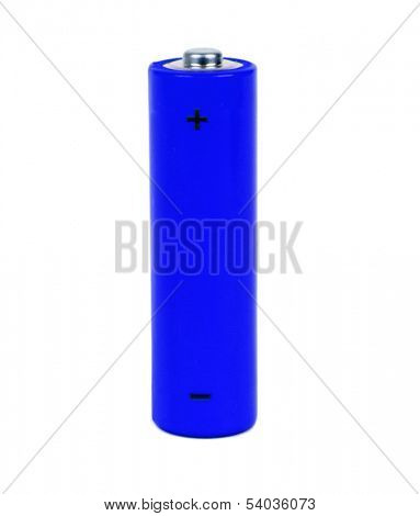 dark blue battery with positive and negative signs