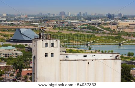 A Hayden Flour Mill And Tempe Town Lake Shot