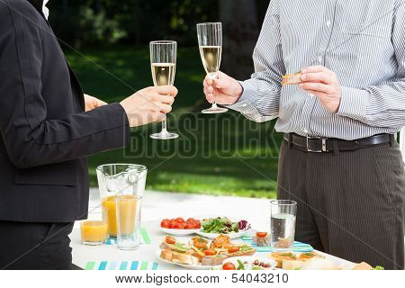 Business Party In The Garden