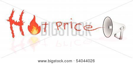 Megaphone Shouting Word Hot Sale On White Background