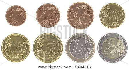 Uncirculated Euro Coins Set With New Map