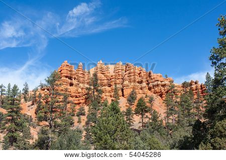 Pillars And Ridges At Red Canyon