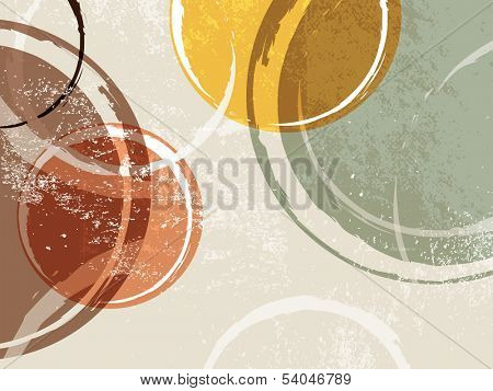 70s background - abstract retro pattern with circles