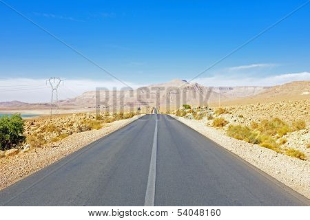 Road through the Atlas Mountains in Morocco