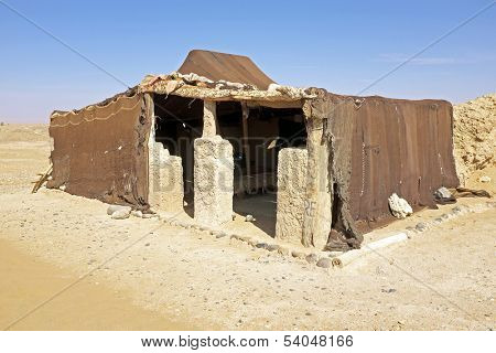 Bedoin tent in Erg Chebbi desert in Morocco