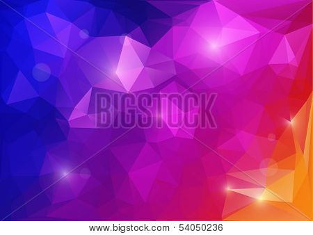 Abstract color background from triangles