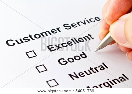 Customer Service Isolated Over White Background