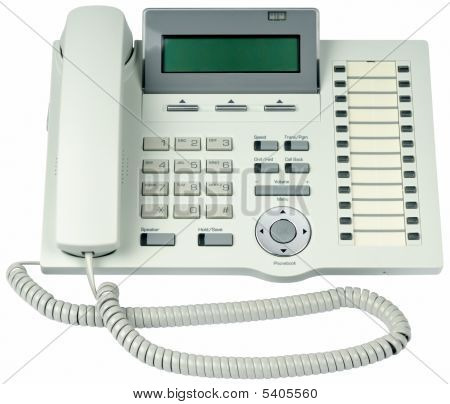 Office Digital Telephone Isolated