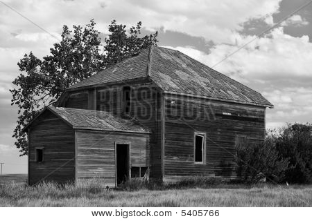 Old Prairie Farm House