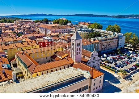 Zadar Rooftops Aerial City View