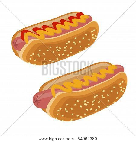 Two Hot Dogs