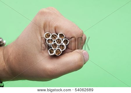 Cigarettes In The Human Hand