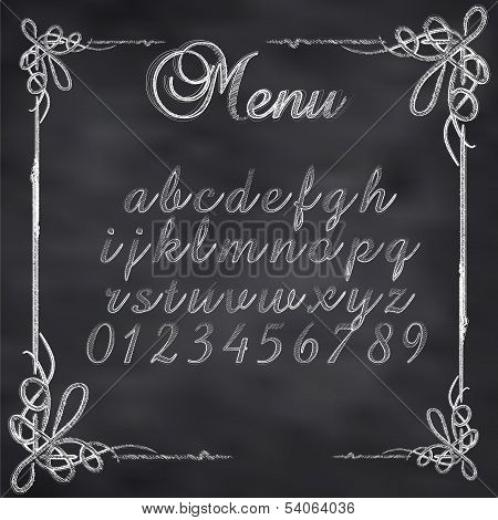 Vector sketched menu