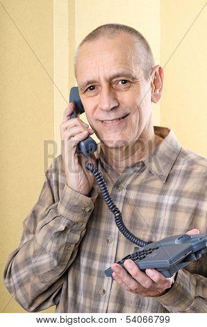 Friendly Man On Phone