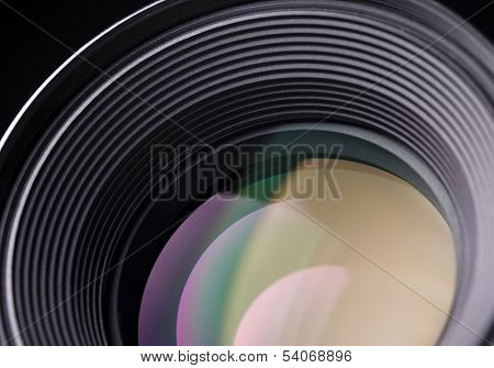 Closeup of a slr lens