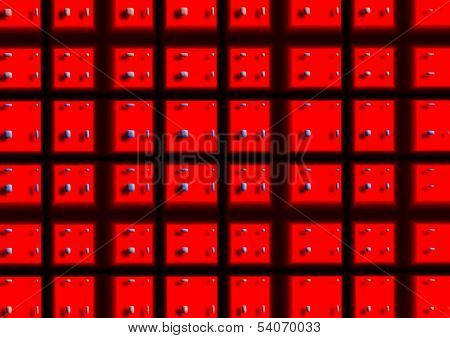 Red Square 3D Abstract