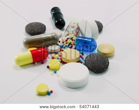 Multi-colored Pills