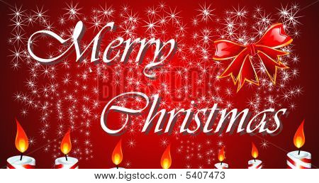Christmas Greetings with high contrast colors