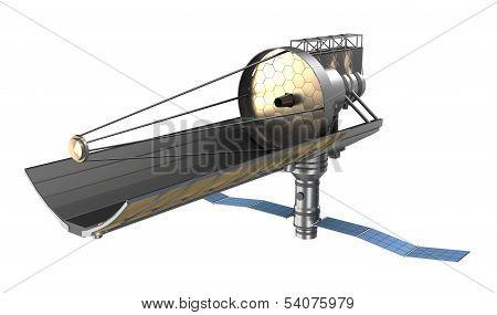 Space telescope ower white
